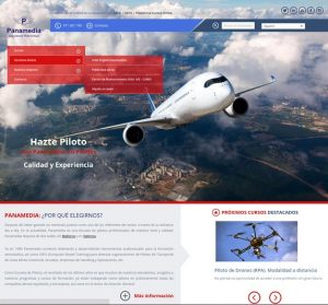 Diseño web a medida para Panamedia, la escuela de pilotos